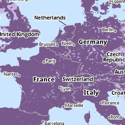 покрытие 3G в Европе