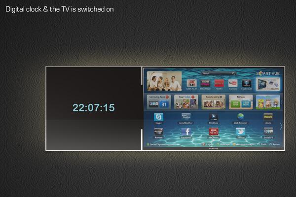 Как на телевизоре Samsung вывести часы на экран
