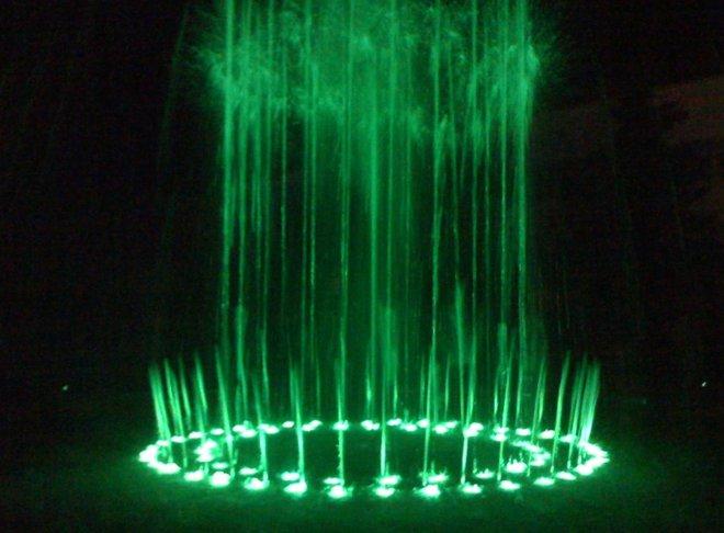 Музыкальный фонтан на курорте