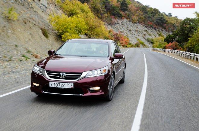 Хонда Аккорд 2013 азиатская модификация тип впереди