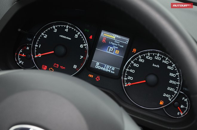 Subaru Outback 2013 панель приборов