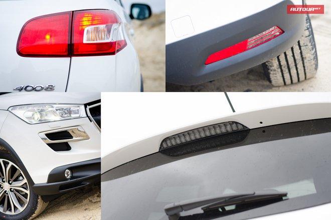 Тест-драйв Peugeot 4008 (Пежо 4008) экстерьер светооптика